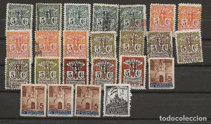 R61/ ESPAÑA, BARCELONA LOTE SELLOS, NUEVOS Y USADOS (Sellos - España - Guerra Civil - De 1.936 a 1.939 - Usados)