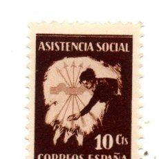Sellos: SELLO LOCAL GUERRA CIVIL 10 CÉNTIMOS LOYA (NAVARRA) ASISTENCIA SOCIAL (MARRÓN). Lote 171173142