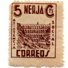 Sellos: SELLO LOCAL GUERRA CIVIL 5 CENTIMOS ASISTENCIA SOCIAL NERJA (MARRON). Lote 171239173
