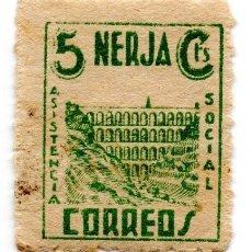 Sellos: SELLO LOCAL GUERRA CIVIL 5 CENTIMOS ASISTENCIA SOCIAL NERJA (VERDE). Lote 171239444
