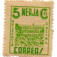 Sellos: SELLO LOCAL GUERRA CIVIL 5 CENTIMOS ASISTENCIA SOCIAL NERJA (VERDE). Lote 171239610