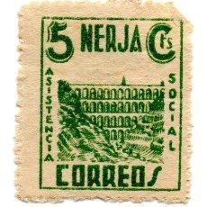 Sellos: SELLO LOCAL GUERRA CIVIL 5 CENTIMOS ASISTENCIA SOCIAL NERJA (VERDE). Lote 171239758