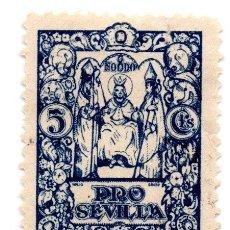 Sellos: SELLO LOCAL GUERRA CIVIL 5 CÉNTIMOS PRO SEVILLA (AZUL). Lote 171363652