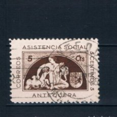 Selos: GUERRA CIVIL SELLO LOCAL ANTEQUERA ASISTENCIA SOCIAL 5 CTS - MALAGA (º) LOT010. Lote 275101723