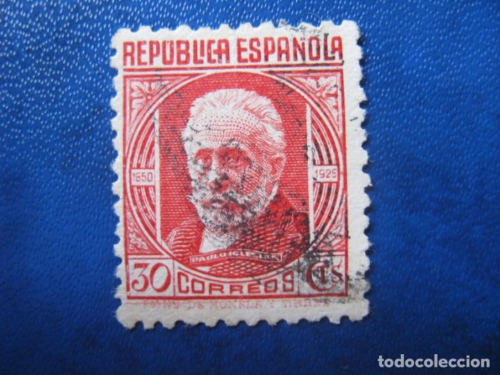 1936, PABLO IGLESIAS, EDIFIL 734 (Sellos - España - Guerra Civil - De 1.936 a 1.939 - Usados)