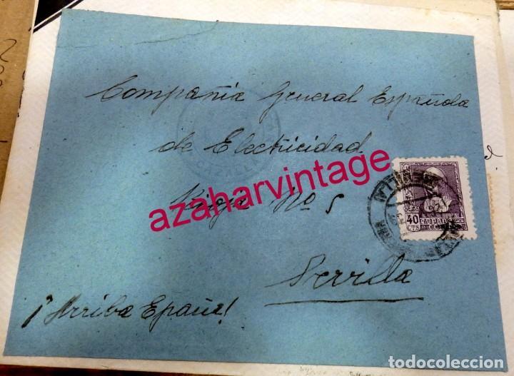 1939, SOBRE CIRCULADO ENTRE CAZALLA DE LA SIERRA Y SEVILLA, CENSURA MILITAR , AUXILIO DESVALIDOS (Sellos - España - Guerra Civil - De 1.936 a 1.939 - Cartas)