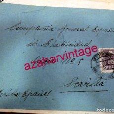 Sellos: 1939, SOBRE CIRCULADO ENTRE CAZALLA DE LA SIERRA Y SEVILLA, CENSURA MILITAR , AUXILIO DESVALIDOS. Lote 171444323