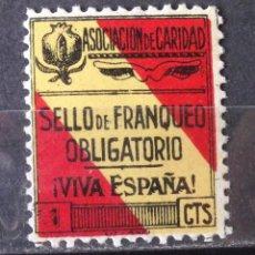 Francobolli: VIÑETAS, ASOCIACIÓN DE CARIDAD, 1 CTS., NUEVA, SIN CH.. Lote 171490887