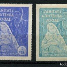Sellos: GUERRA CIVIL, VIÑETA, SANITAT I ASSISTENCIA SOCIAL, L´HOSPITALET DE LLOBREGAT. Lote 171547628