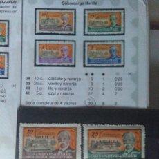 Sellos: 5817-SERIE COMPLETA 1945 ESPAÑA 30,00€ HABILITADO MELILLA HUÉRFANOS TELÉGRAFOS SOBRECARGA MNH**.BEN. Lote 171644247