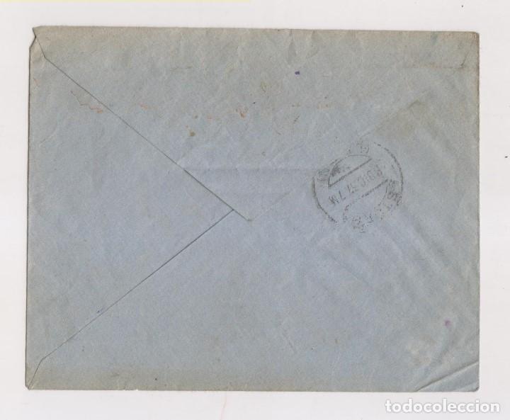 Sellos: SOBRE CON FRANQUICIA. DE BURGOS A ASTORGA. COMBARROS. LEÓN. 1937. DORSO LLEGADA - Foto 2 - 171724287