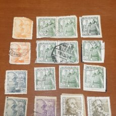Sellos: LOTE 16 SELLOS IMAGEN GENERAL FRANCO. Lote 171822919