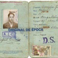 Sellos: (XJ-190787)CARNET MENJADORS ECONOMICS - VIÑETA - CAMARERO DEL ORI DEL RHIU. Lote 171969292