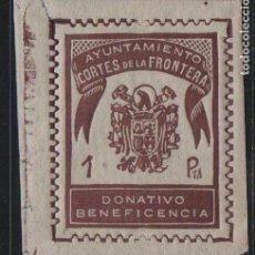 Sellos: CORTES DE LA FRONTERA, 1 PTA--DONATIVO BENEFICENCIA-- NUEVO, VER FOTO. Lote 172049552