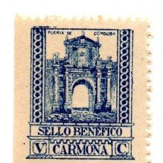 Sellos: SELLO LOCAL GUERRA CIVIL BENÉFICO 5 CÉNTIMOS / 5 CTS CARMONA (NUEVO). Lote 172169015