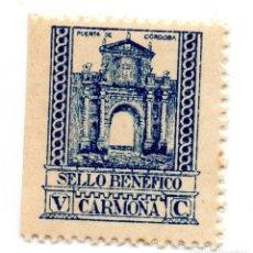 Sellos: SELLO LOCAL GUERRA CIVIL BENÉFICO 5 CÉNTIMOS / 5 CTS CARMONA (NUEVO). Lote 172169138