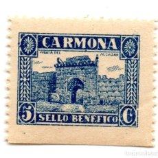 Sellos: SELLO LOCAL GUERRA CIVIL BENÉFICO 5 CÉNTIMOS / 5 CTS CARMONA (NUEVO). Lote 172169217