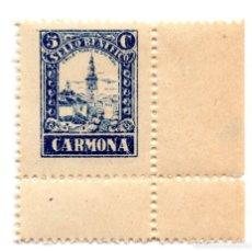 Sellos: SELLO LOCAL GUERRA CIVIL BENÉFICO 5 CÉNTIMOS / 5 CTS CARMONA (NUEVO). Lote 172169304