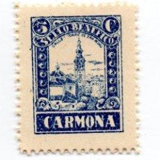 Sellos: SELLO LOCAL GUERRA CIVIL BENÉFICO 5 CÉNTIMOS / 5 CTS CARMONA (NUEVO). Lote 172169805