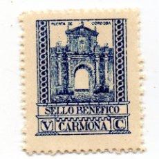 Sellos: SELLO LOCAL GUERRA CIVIL BENÉFICO 5 CÉNTIMOS / 5 CTS CARMONA (NUEVO). Lote 172169894