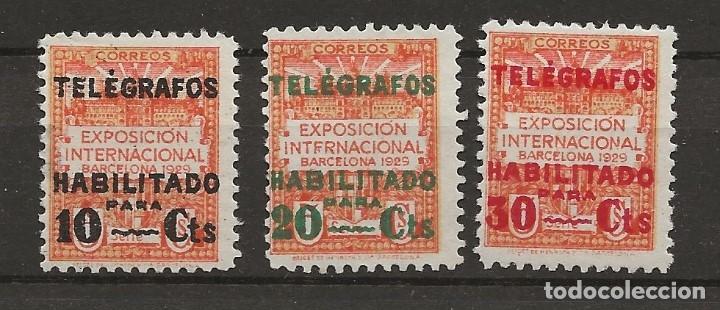 R7/ BARCELONA, TELEGRAFOS 1/3 MH* (Sellos - España - Guerra Civil - De 1.936 a 1.939 - Nuevos)