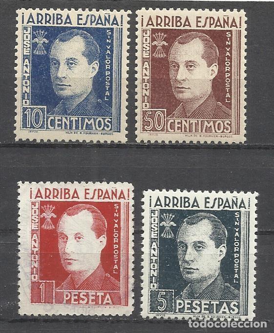 LO17-LOTE SELLOS JOSE ANTONIO PRIMO DE RIVERA FALANGE ARRIBA ESPAÑA,GUERRA CIVIL.CASI TODO ES NUEVO (Sellos - España - Guerra Civil - De 1.936 a 1.939 - Nuevos)