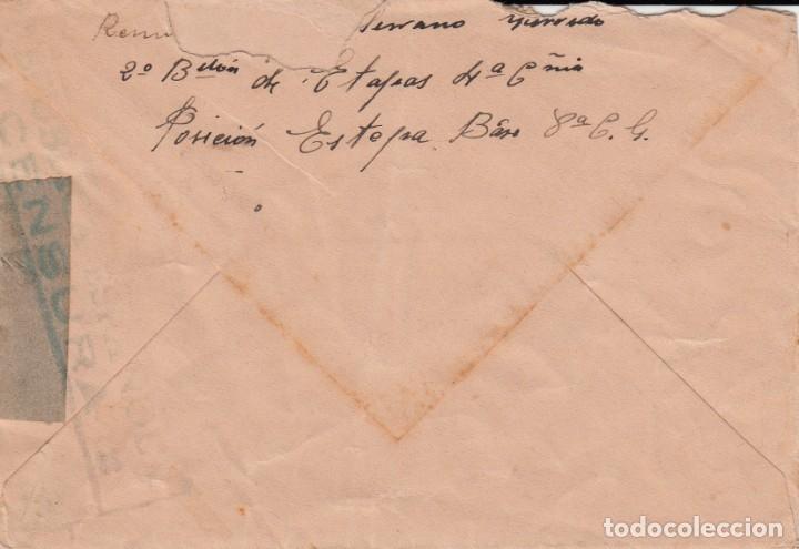 Sellos: GUERRA CIVIL- SOBRE CON MATASELLOS DE CORREO DE CAMPAÑA BASE 3 CG. DESTINO FRANCIA - Foto 3 - 172834105