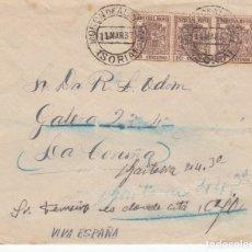 Sellos: GUERRA CIVIL - SOBRE CON SELLOS DE TIMBRE MOVIL MATASELLOS DE MORON DE ALMAZAN - SORIA- 1937 . Lote 172834404