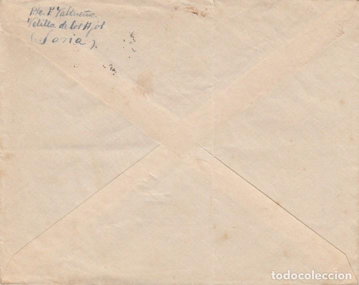 Sellos: GUERRA CIVIL - SOBRE CON SELLOS DE TIMBRE MOVIL MATASELLOS DE MORON DE ALMAZAN - SORIA- 1937 - Foto 3 - 172834404