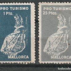 Sellos: MALLORCA . BALEARES).PRO TURISMO , 1 PTA ( *) 25 PTAS. (**). Lote 173026304