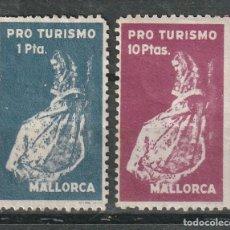 Sellos: MALLORCA . BALEARES).PRO TURISMO , 1 PTA ( *) 10 PTAS. (**). Lote 173026333