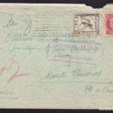 Sellos: CM3-47- GUERRA CIVIL SAN SEBARTIAN-ARGENTINA 1937. CRUZADA FRÍO. VER RODILLOS . Lote 173067852