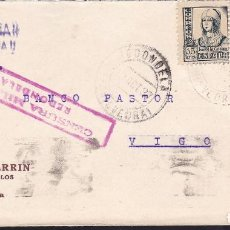 Sellos: CM3-45- GUERRA CIVIL.CARTA REDONDELA (PONTEVEDRA) 1937.CENSURA. Lote 173068708