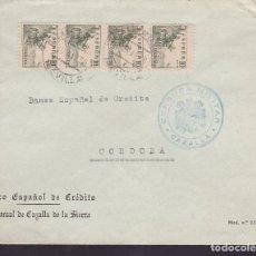 Sellos: CM3-20- GUERRA CIVIL. CARTA CAZALLA (SEVILLA) 1939. LOCAL Y CENSURA NO RESEÑADA HELLER. Lote 173073494