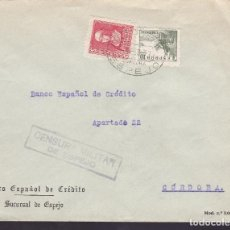 Sellos: CM3-19- GUERRA CIVIL. CARTA ESPEJO CÓRDOBA 1938. LOCAL Y CENSURA . MATASELLOS GIRO POSTAL. Lote 173073665