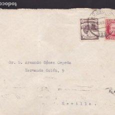 Sellos: CM3-10- GUERRA CIVIL. CARTA LOGROÑO 1936. CRUZADA FRIO Y CENSURA SEVILLA. Lote 173083647