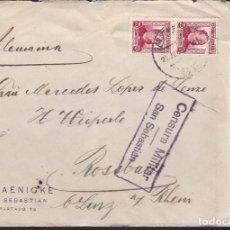 Sellos: CM3-8- GUERRA CIVIL. CARTA SAN SEBASTIAN -ALEMANIA 1937. CENSURA . Lote 173084457