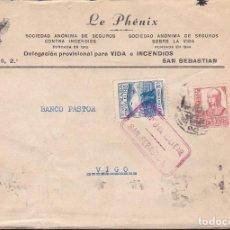 Sellos: CM3-8- GUERRA CIVIL. CARTA SAN SEBASTIAN 1937?. CRUZADA CONTRA EL FRÍO Y CENSURA . Lote 173084677