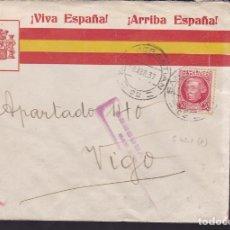 Sellos: CM3-7- GUERRA CIVIL. CARTA PATRIÓTICA BANDERA SAN SEBASTIAN 1937- CENSURA . Lote 173085054