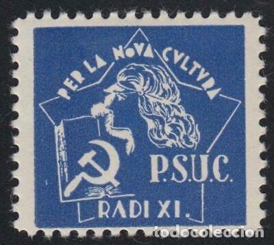 VIÑETA POLITICA GUERRA CIVIL PARTIT SOCIALISTA CATALUNYA (Sellos - España - Guerra Civil - De 1.936 a 1.939 - Nuevos)