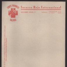 Sellos: VALENCIA, S.R.I. COMITE PROVINCIAL, CARTA SIN USAR, VER FOTO. Lote 173114287