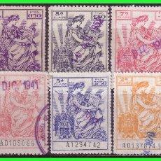 Sellos: FISCALES 1940 PÓLIZAS, ALEMANY Nº 671 A 680 (O) . Lote 173117054