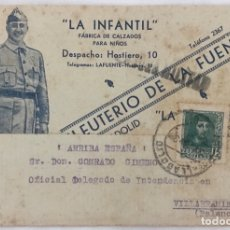 Francobolli: TARJETA POSTAL PATRIÓTICA - GUERRA CIVIL - VALLADOLID A PALENCIA (MANUFACTURAS DE EFECTOS MILITARES. Lote 173135119