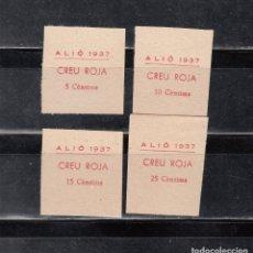 Selos: ALIÓ. CREU ROJA. SERIE DE 4 SELLOS. Lote 173160228
