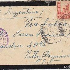 Sellos: LUTO. CENSURA MILITAR : JEREZ DE LA FRONTERA A VILLA DOMINICO (ARGENTINA) 1937.. Lote 173403764