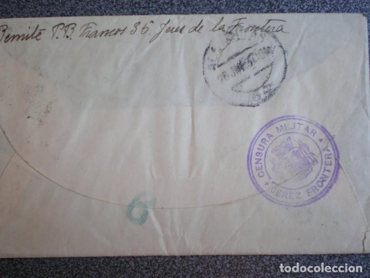 Sellos: SOBRE DE CARTA AÑO 1937 CENSURA MILITAR DE JEREZ FRONTERA CON ESCUDO REPÚBLICANO - Foto 2 - 173529543