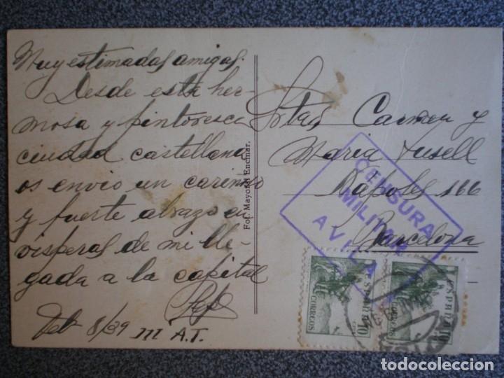 CENSURA MILITAR ÁVILA AÑO 1939 EN POSTAL DEL PALACIO DE LOS DUQUES DE ABRANTES (Sellos - España - Guerra Civil - De 1.936 a 1.939 - Cartas)