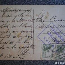 Sellos: CENSURA MILITAR ÁVILA AÑO 1939 EN POSTAL DEL PALACIO DE LOS DUQUES DE ABRANTES. Lote 173531727