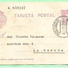 Sellos: ANTIGUA TARJETA POSTAL II REPÚBLICA --1931. Lote 173584313