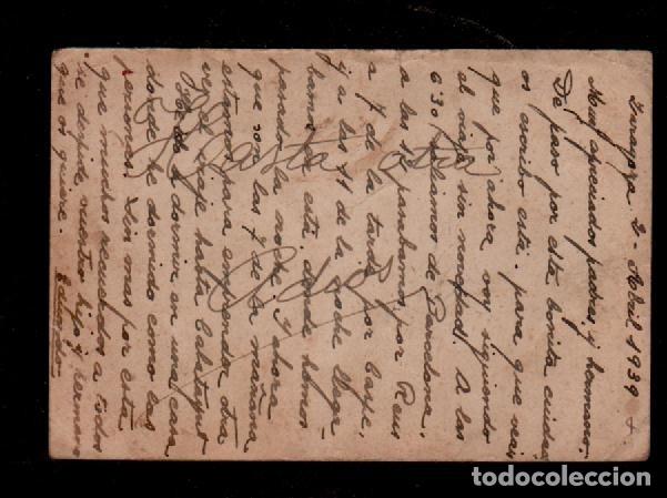 Sellos: 16-7 Guerra Civil Postal con Efigie de FRANCO con AUREOLA Circulada a Barcelona el 1 de Abril de 193 - Foto 2 - 173593319